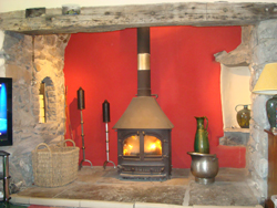 Mr and Mrs Jones' finished Fireplace